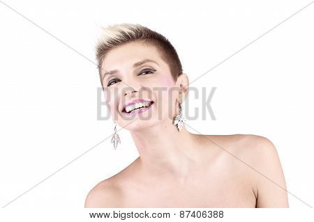 Attractive Girl With Short Hair