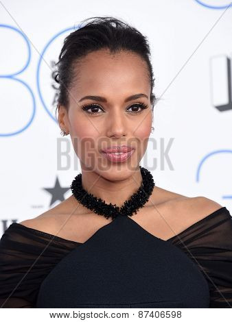 LOS ANGELES - FEB 21:  Kerry Washington arrives to the 2015 Film Independent Spirit Awards  on February 21, 2015 in Santa Monica, CA