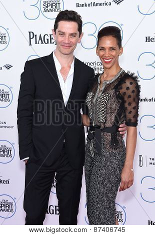 LOS ANGELES - FEB 21:  James Frain & Marta Cunningham arrives to the 2015 Film Independent Spirit Awards  on February 21, 2015 in Santa Monica, CA