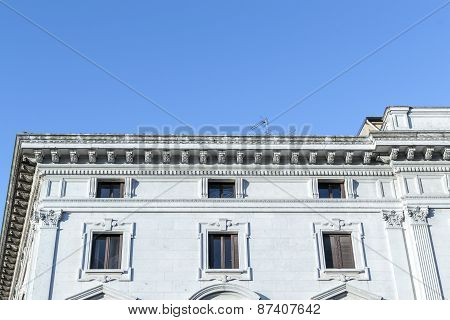 Ancient Renaissance Building In The Downtown Of Ferrara