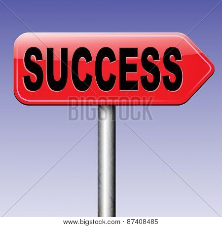 success road to and key for successful business and life