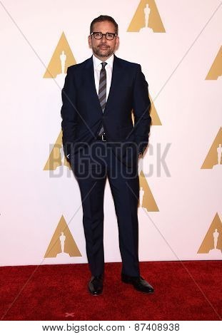 LOS ANGELES - FEB 02:  Steve Carell arrives to the Oscar Nominee Reception  on February 2, 2015 in Beverly Hills, CA
