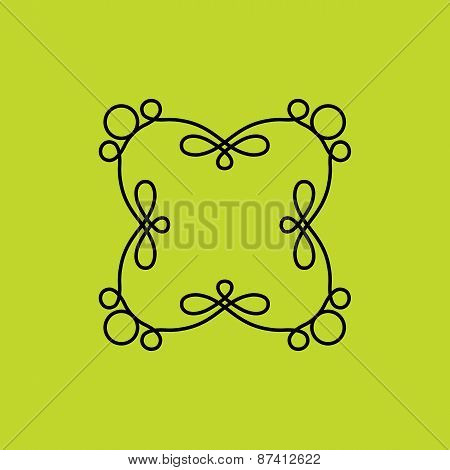 Vector Floral Outline Frames And Borders - Abstract Logo Design Templates For Spa, Floral Shops And