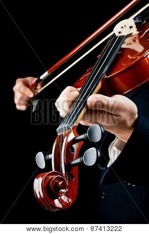Violin Played By The Musician