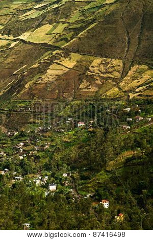 Beautiful Andean City Of Canar In Azogues Ecuador