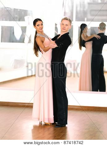 Ballroom dance in motion