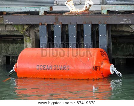 SAN FRANCISCO, CA - NOVEMBER 18:  Ocean Guard Mooring Buoy Marine Fender Fisherman's Wharf 2012