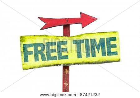 Free Time sign isolated on white