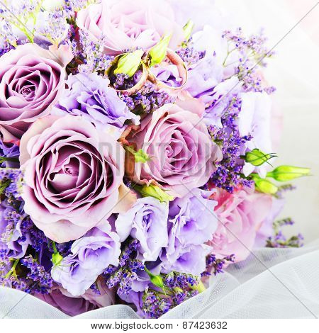 Bouquet Of Purple Flowers