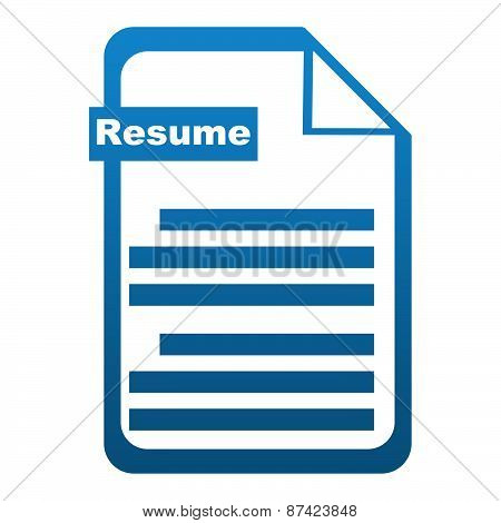 Resume Icon Blue