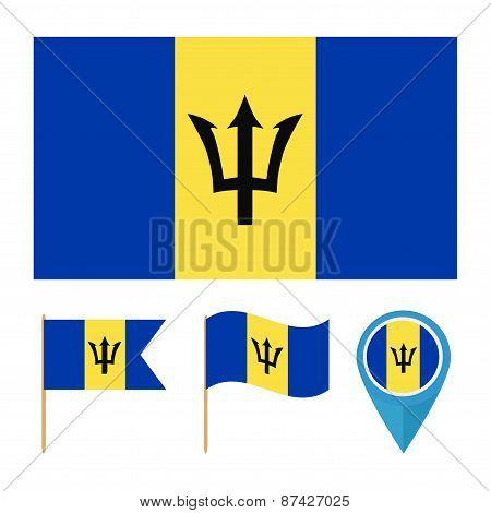 Barbados, country flag