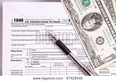 Tax Form And Money
