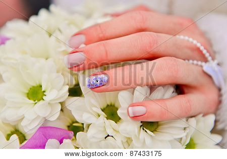 Bride Hands Manicure