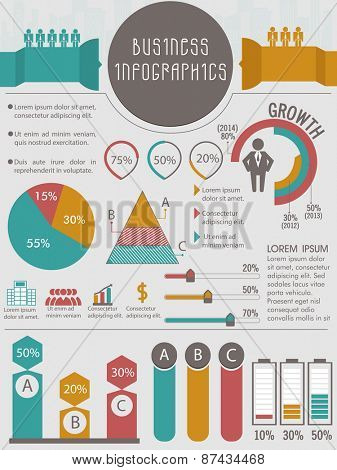Big set of various Infographic elements for your business or corporate sector.
