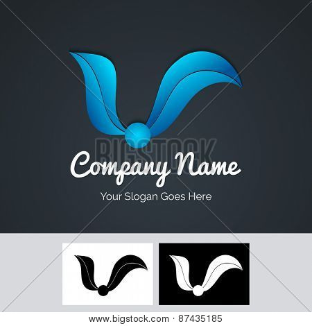 Creative business symbol in blue color for your company.