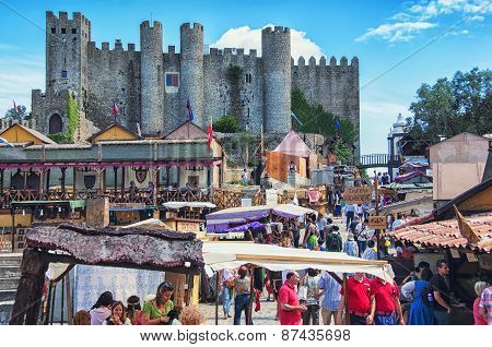 Medieval Market In Obidos, Portugal