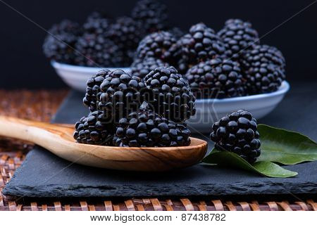 Blackberry On Stone Board