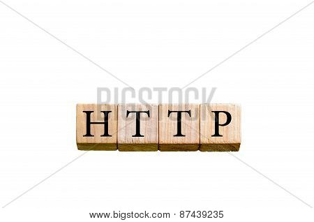 Word Http Isolated On White Background With Copy Space