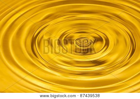 Gold water ripple abstract background