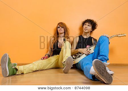 Two Musicians Sitting