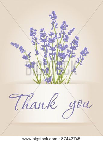 Thank You Card With Lavender