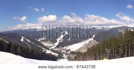 Mountain view at the Bukovel ski resort