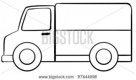 Simple cargo truck in simple design