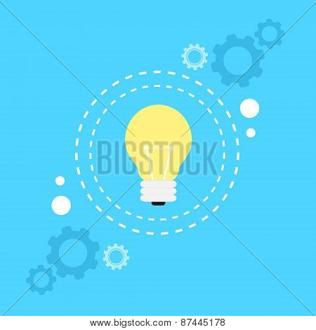 bulb light lamp idea concept flat icon