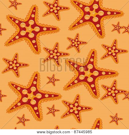 seamless pattern. starfish.