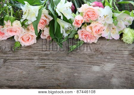 Beautiful Bouquet Of Different Flowers