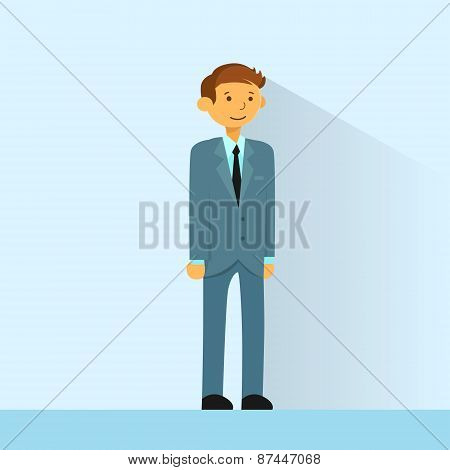 Businessman Full Length Business Man Flat