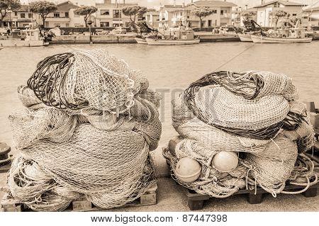Fishing Nets. Vintage