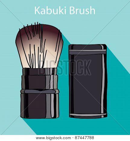 kabuki brush in style flet