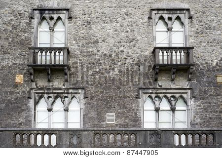 Old Windows With Balcony