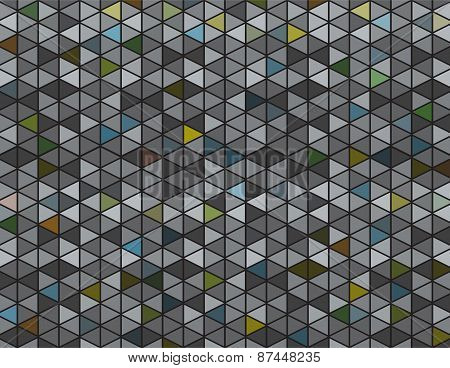 Abstract Grey And Dark Colored Triangle Background