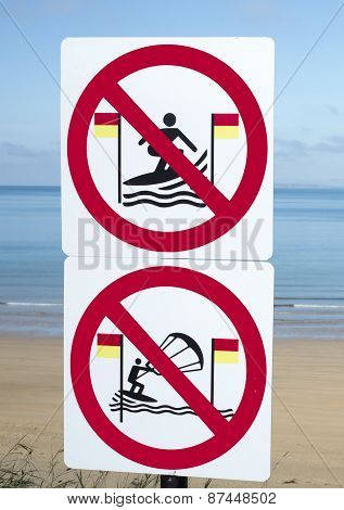 Signs For Surfers In Ballybunion