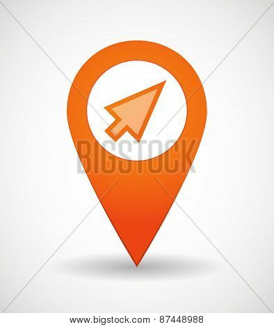 Map Mark Icon With A Cursor
