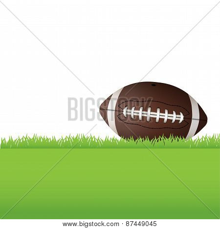 American Football Sitting On Grass Illustration