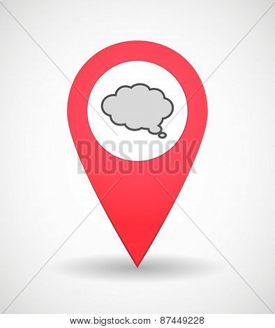 Map Mark Icon With A Comic Cloud Balloon