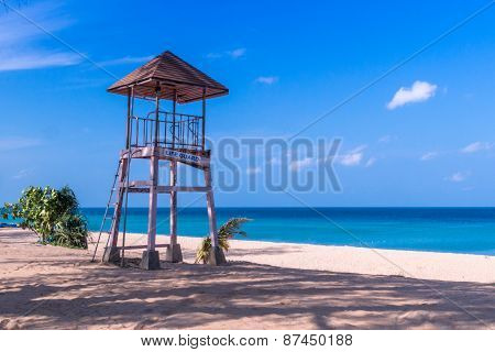Life Guard Cabin On The Beach