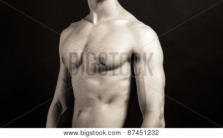 Sports Inflated Body Of A White Man On A Black