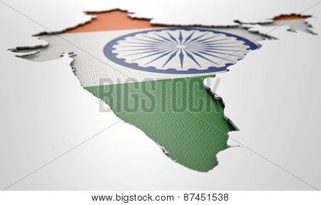 Recessed Country Map India