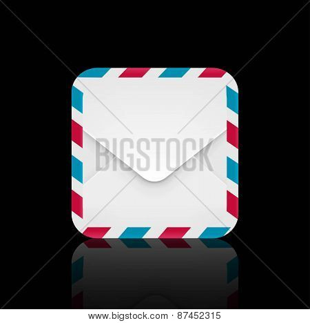 Air mail envelope icon
