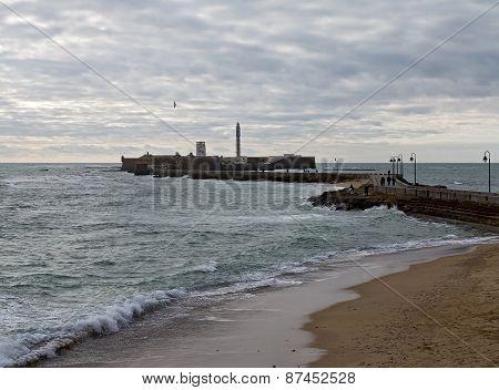 La Caleta Beach And Castillo De San Sebastian