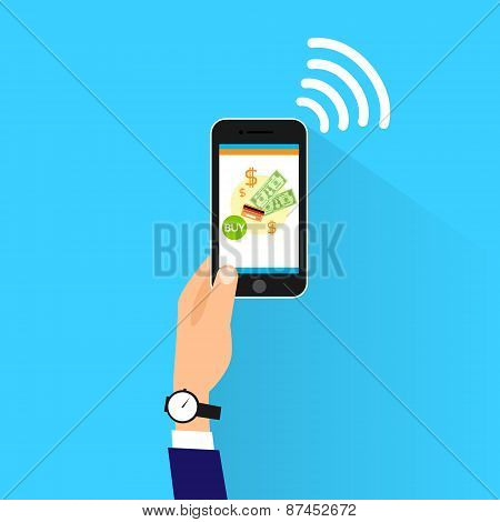 mobile payment with cell smart phone nfc technology