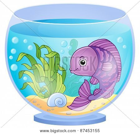Aquarium theme image 6 - eps10 vector illustration.