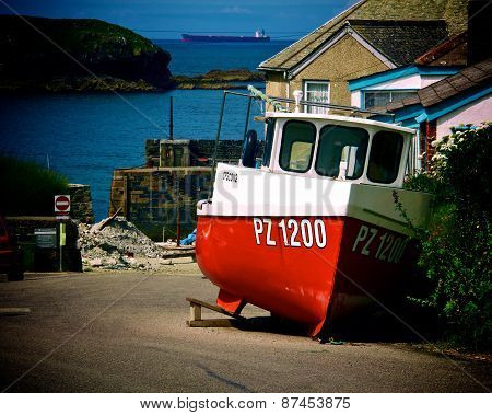 Cornish fishing boat