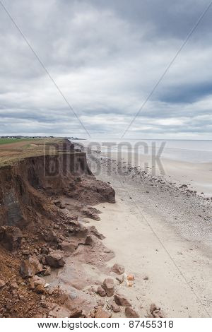Coastal Erosion At Withernsea, Yorkshire, Uk