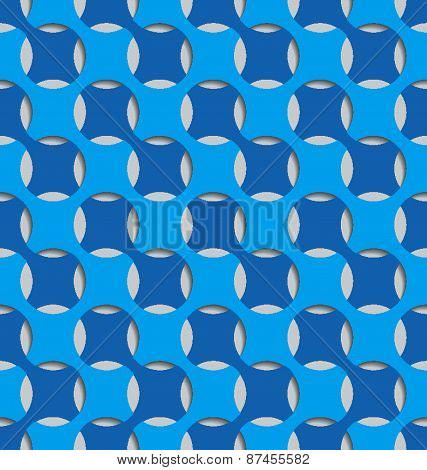Blue Seamless Abstract Background Tile