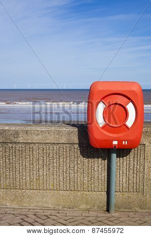 Lifebelt On Withernsea Sea Front